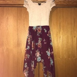 Rue21 floral and lace dress size xs